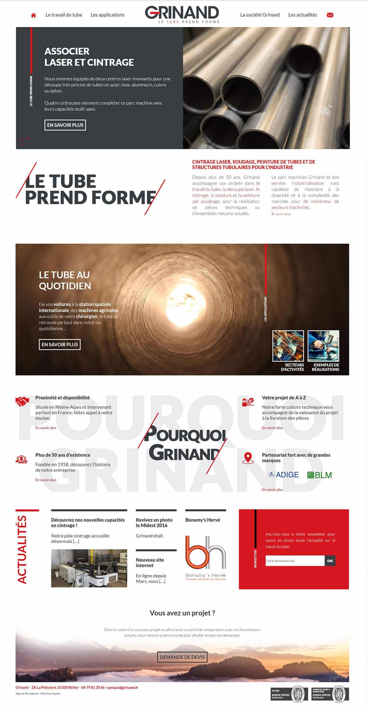 New Grinand website