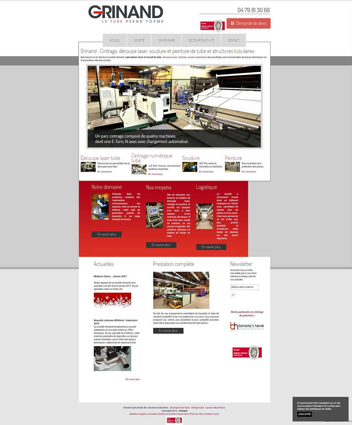 Old Grinand website